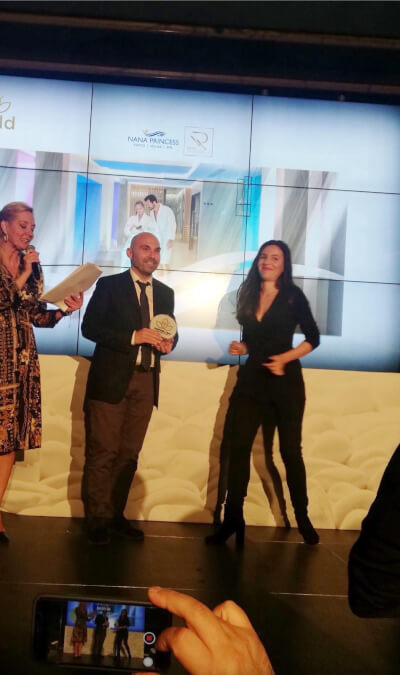 O σύμβουλος μάρκετινγκ Θέμης Σαρανταένας στην απόνομή των βραβείων Aesthetic & Spa Awards 2020.
